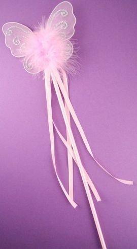 Glitter rosa butterfly bacchetta leggiadramente - 1 in dotazione