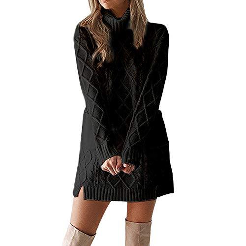 2018JYJM Weihnachten Abendkleider lang samtkleid Frauen Winter Pullover Stricken Rollkragen Warme Langarm Tasche Sexy Minikleid Damen Jacke Kapuze Kunstfell Lang Modisch Warm Partykleid