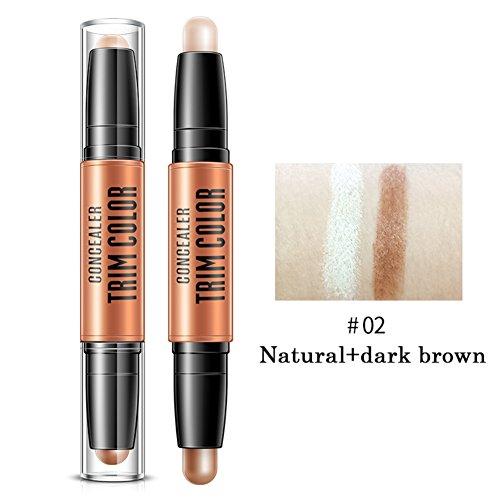 Allbesta Double Head Concealer Stift für Gesicht Augen Contouring Trim Cream Pen Make-up Abdeckstift