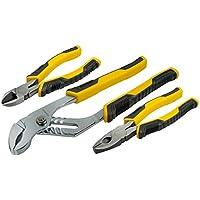 STANLEY STHT0-74471 - Juego Alicates Control Grip. Universal + corte diagonal + cremallera