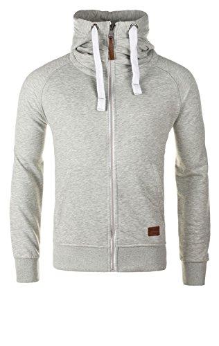 Yazubi Herren Sweatjacke Zip Hoodie Kapuzenjacke Jacob, Grau (Mirage Gray 154703), XL