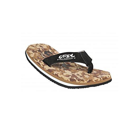 Cool Shoes Original Pi DESERT CAMO LTD , Braun Camoflage Flip Flops Sandalen Zehentrenner Strandlatschen Badeschlappe (39/40) (Stoff Desert Camo)