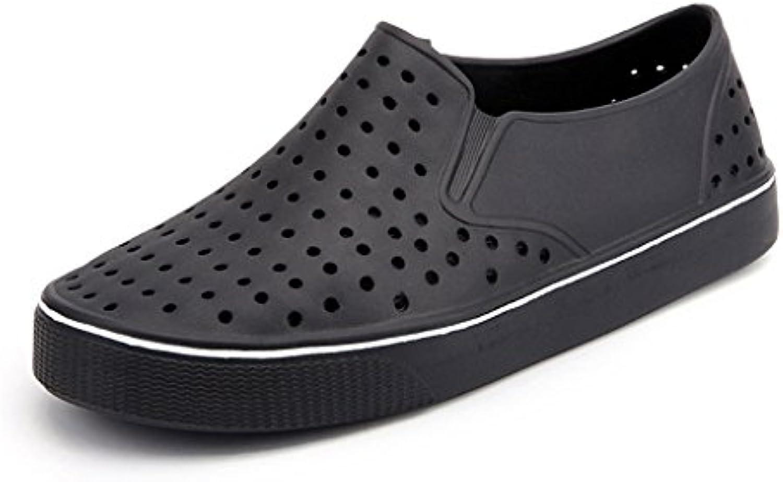 Chanclas Zapatos con Agujeros para Hombres Sandalias Respirables Zapatos Ocasionales Antideslizantes para la Playa...