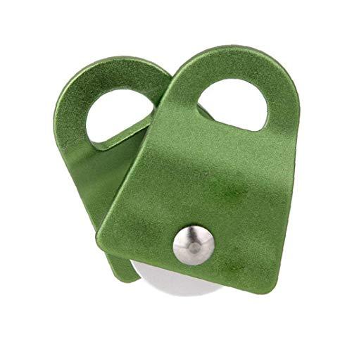 1 Pc Haltbares Aluminium Climbing Pulley Einzelscheibe Mit Schwenkplatten Für Kletterseil Rettung, Aloft Arbeits (Grün)