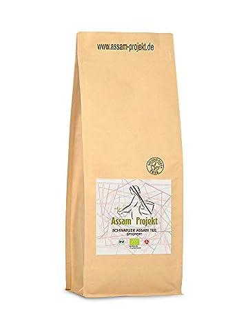 Schwarzer Bio Assam Tee   Direkt aus der Assam Region in Indien   500g SFTGFOP 1 (Top Loser Tee)