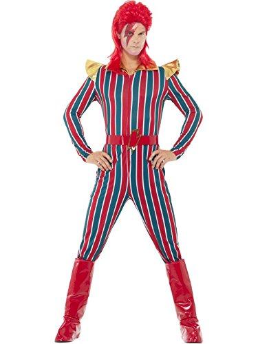 Smiffys Herren Weltraum Superstar Kostüm, Jumpsuit, Gürtel und Stiefel Überzieher, Größe: L, 43858