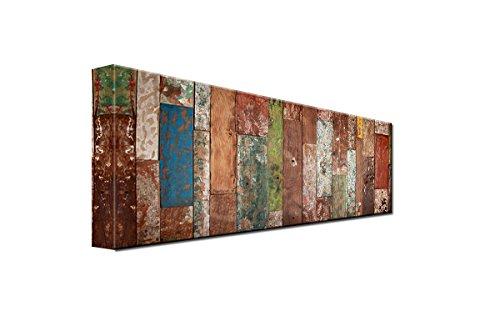 DEINEBILDER24 - Wandbild XXL Abstrakter Fußbodenbelag Panorama 40 x 120 cm auf Leinwand und...