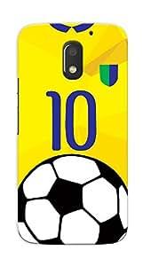 Kaira High Quality Printed Designer Back Case Cover For Motorola Moto E3 Power(Messi-jersey)