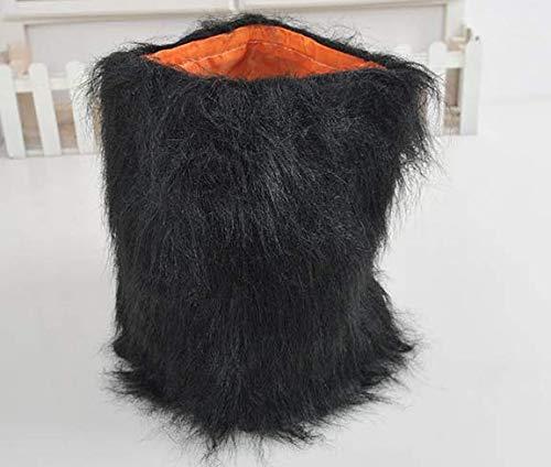 (ZMMAlöwen - perücke pet löwenkopf für kleine Ohren Hund Teddy Machen seltsame Hut Katze Hund den Kopf ab,schwarz)