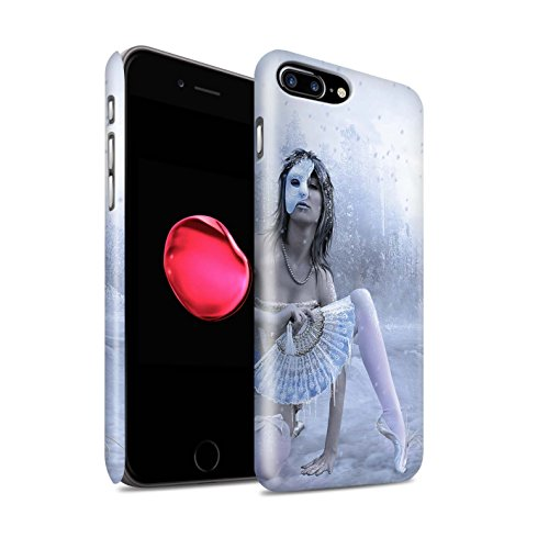 Officiel Elena Dudina Coque / Clipser Matte Etui pour Apple iPhone 8 Plus / Lagune À la Nuit Design / Un avec la Nature Collection Masque d'Hiver