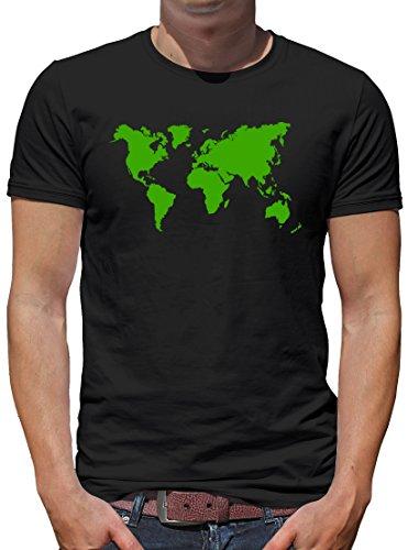 TLM Sheldon Weltkarte T-Shirt Herren S (Katze Penny Bang Kostüm Big)