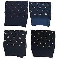 Takestop® Juego de 3pares calcetín calcetines velati 20DEN Medias corto diseño aleatorio lazo lunares calcetines talla única lencería