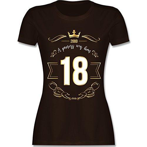 Geburtstag - 18 Geburtstag Prinzessin Mädchen - M - Braun - L191 - Damen T-Shirt Rundhals