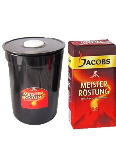 Jacobs Meisterröstung Gemahlener Kaffee 1x500gr+ Fresh Aroma Kaffeedose entriegel und veriegeln per einfachen Knopfdruck