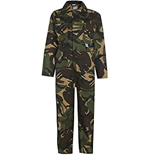 Army And Workwear Jungen Arbeitsoverall Gr. 13 Jahre-86,36 cm Brust, Woodland Green CAMO Camouflage