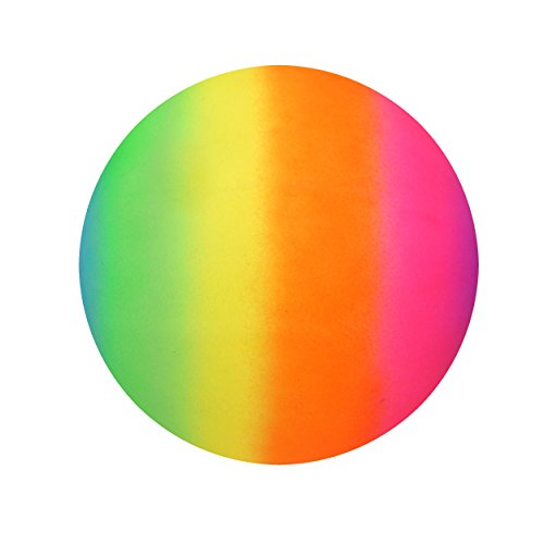 Regenbogen hell PVC Fußball Ball 20cm nicht aufgeblasen - Pack of 1
