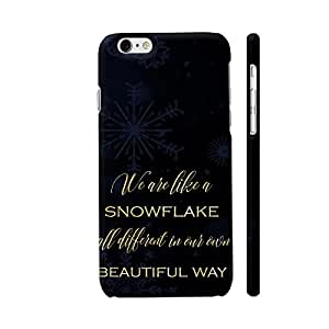 Colorpur iPhone 6 Plus / 6s Plus Cover - We Are All Like Snowflakes Printed Back Case