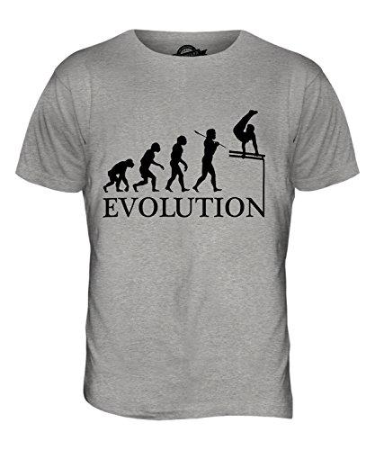 CandyMix Parallele Simmetriche Pari Evoluzione Umana T-Shirt da Uomo Maglietta Marne Grigio