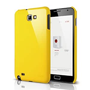 elago G4 Slim Fit Case for at & t, International Galaxy Note - Sport Yellow - ECO PACK