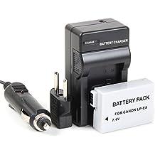 Disko - Cargador + Batería LP-E8 LPE8 1200mAh para Canon EOS: 550, 550D, 600D, 650D, 700D, Rebel T2i, Rebel T3i, Rebel T4i, Rebel T5i