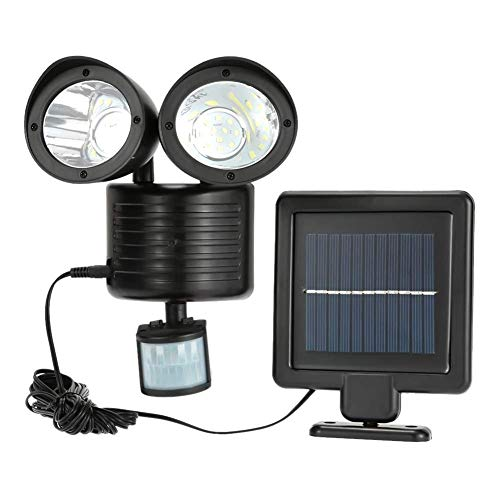 gfhjgjhj Dual Security Detector Solar Power Spot Licht Bewegungsmelder 22 LED Flutlicht für Outdoor Garten -