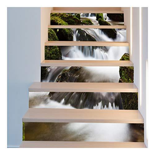 SERFGTFH Bricolaje Escalera 3D Pegatinas Decoración Piso Calcomanías Adhesivos Salón Decoración