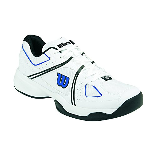 Wilson NVISION ENVY, Scarpe da tennis uomo, Multicolore (Mehrfarbig (White / Black / Blue Iris)), 45 1/3
