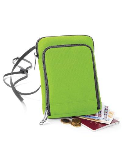 BagBase Travel Wallet Urlaub Tasche Wahl von Farben Lime Green/Graphite Grey -