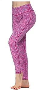 Queenie Ke Women Yoga Leggings Power Flex Mesh High Waist 3 Phone Pocket Gym Running Tights