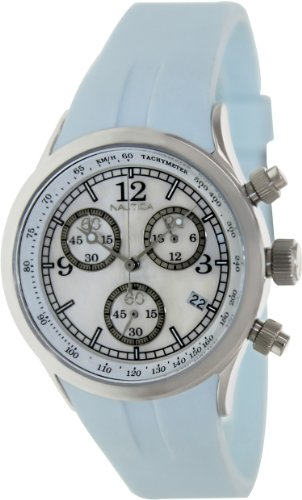 Nautica Women's Sport A17537L Blue Resin Quartz Watch with White Dial