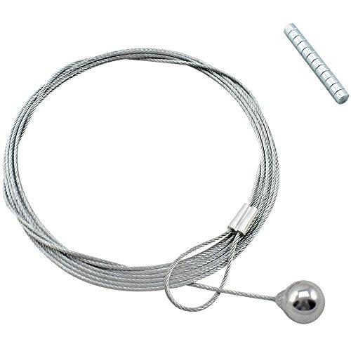 COM-FOUR® Fotodrahtseil mit 12 Magneten, circa 190 cm x 1,2 mm, aus Metall (1 Stück)