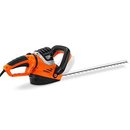VonHaus Corded Hedge Trimmer / Cutter – 750W Rotating Soft Grip Handle – Blade Length 610mm, Teeth Spacing 24mm – With Hand Guard, Blade Cover & Cable Holder