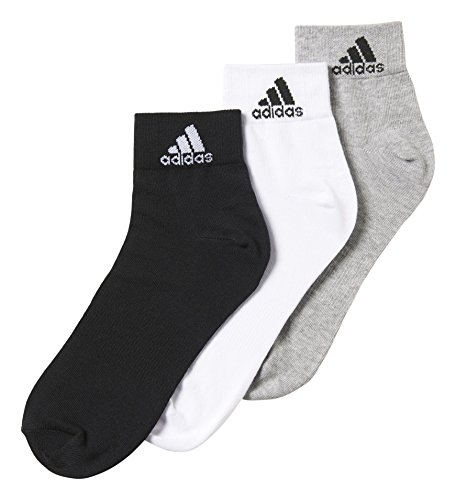adidas Trainings/Knöchelsocken Performance dünne 3 Paar, schwarz/grau/weiß, 43-46, AA2322 (Training Adidas)