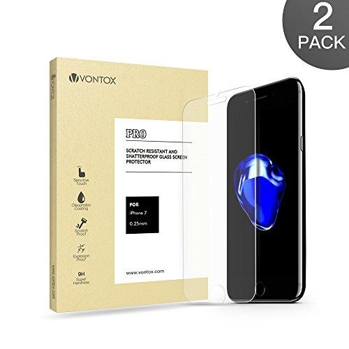 Vontox Protector de Pantalla Cristal Templado Transparente para Iphone