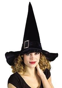 Disfraz Adulto - Sombrero Bruja Lujo con Hebilla