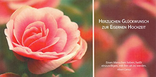 """Hochwertige Glückwunschkarte zur Eisernen Hochzeit 65 Jahre """"Einen Menschen lieben, heißt..."""""""