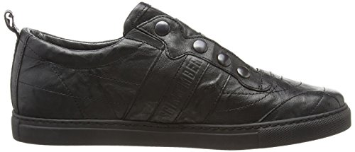 Bikkembergs Soccer Capsule 522 L.Shoe M Wrinkled Leather, Baskets Basses Homme Noir (Black)