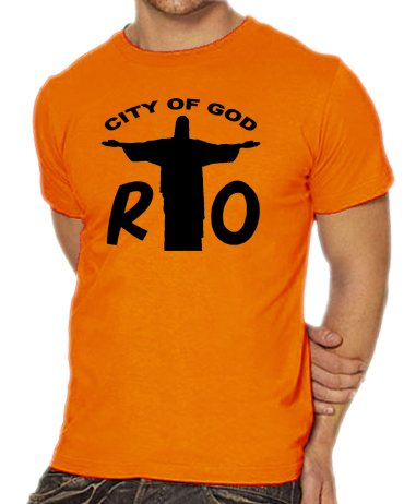Touchlines Rio - City of God T-Shirt, Größe S, orange