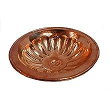 Fatta a mano, stile marocchino, colore: rosso rame per lavabo da bagno, rotonda, martellato & con incisione Di 40