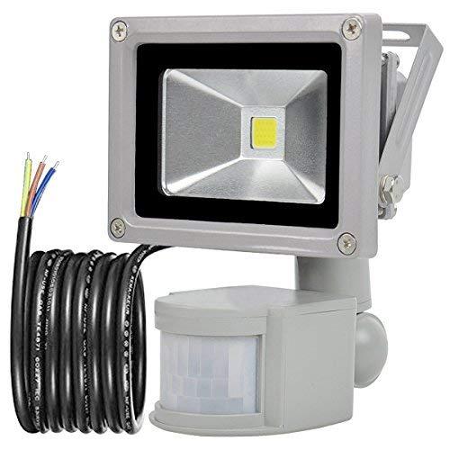 GLW 10W Foco LED con Sensor Movimiento,blanco frío 6000K,240V,Línea de 1 metro,Impermeable...