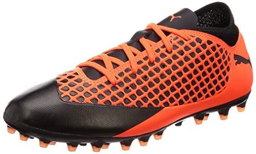 Puma Unisex-Kinder Future 2.4 MG JR Fußballschuhe, Schwarz Black-Shocking Orange 02, 31 EU