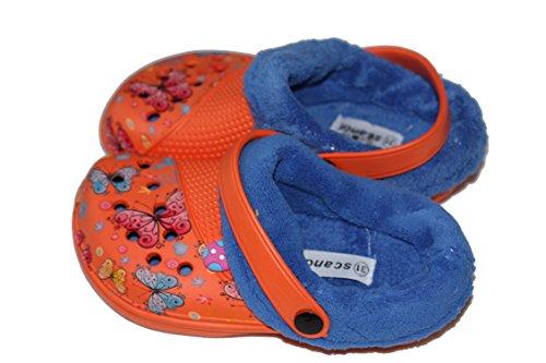 amara-global, Mules pour Fille orange/bleu
