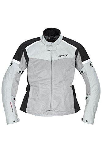 Difi SAN DIEGO LADY Motorradjacke Sommer Damen Farbe silbergrau/pink/schwarz, Größe 46