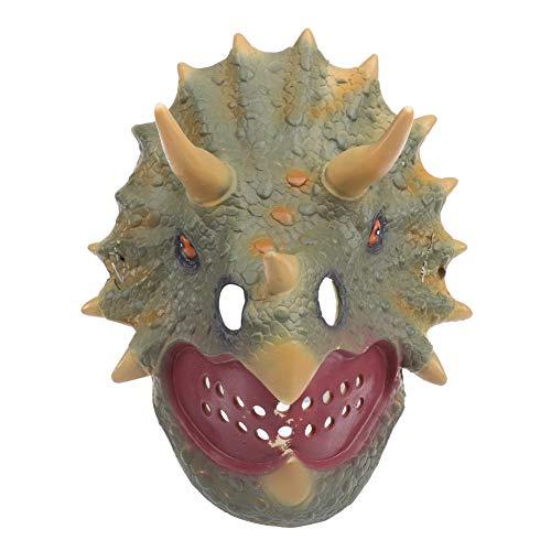 Garosa Dinosaurier Muster Maske Kunststoff Tragbar Halloween Spielzeug Kostüm Party Dekorationen Requisiten Zubehör (Halloween-kostüme Kleinkinder Dinosaurier)