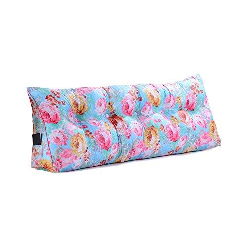 ZWL Coussin triangulaire, canapé-lit double pour le lit, paquet souple, dossier de bureau, coussin de coussin, ourlet, étui, impression, garde-robe, taille, protection, 58-100cm mode z ( Couleur : #1 , taille : 70*50*20CM )