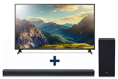 LG 4K Ultra HD LED 152 cm (60 Inches) 60UK6200 UHD Smart TV, Triple Tuner, HDR and LG SK6F 2.1 Dolby Digital Soundbar