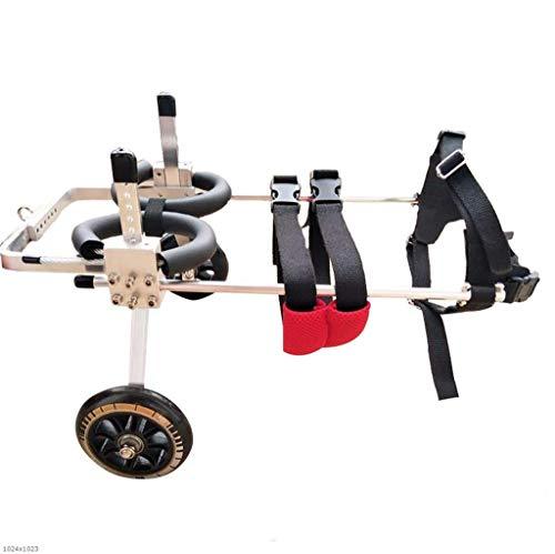 Ciclomotor para Mascotas: Silla de Ruedas para Perros, patineta para Perros Viejos, tamaño Ajustable, discapacitado, para Perros, Patas traseras, Autos Deportivos, Negro (Tamaño : XL)
