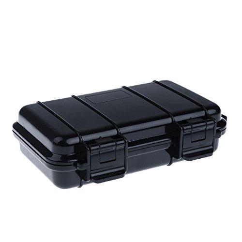 MagiDeal Universal wasserdicht Stoßfest Koffer aus Gummi für outdoor Camping Angeln,schwarz - L (Universal Abnehmbare Box)