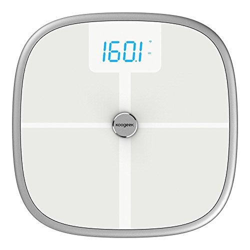 koogeek Bluetooth WiFi inteligente escala analizador de cuerpo, 8cuerpo estadísticas medición, 16usuario reconocimiento, con un peso de bebé