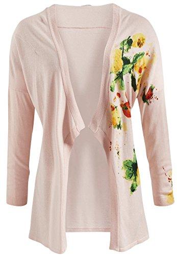 khujo Damen Pullover SILJE (Strickjacke Print-gerippte)